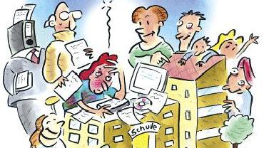 Schulsekretärinnen sind oft die einzigen Verwaltungskräfte an einer Schule, arbeiten kompetent im Sekretariat und organisieren ihre Arbeit eigenverantwortlich.