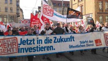 Warnstreiks in ganz Deutschland
