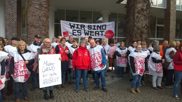 Warnstreik in Rothenburg