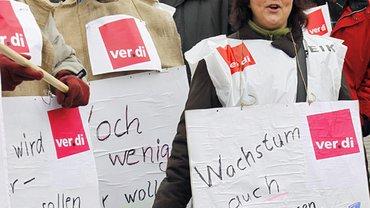 Warnstreik in der Touristik am 31.01.2011 in Frankfurt am Main