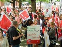 Kundgebung zum Kita-Gesetz am 4. Juni 2015 in Hannover
