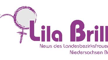 Lila Brille