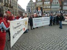 Vor der Bremer Bürgerschaft