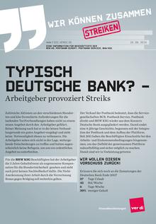 Typisch Deutsche Bank? – Arbeitgeber provoziert Streiks