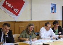Diskussionsveranstaltung zum Thema 'Auswirkungen einer Landkreis-Fusion auf die Beschäftigten'