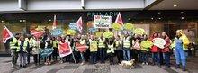 Streik bei Primark Hannover am 22.10.2015