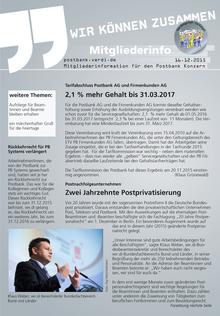 Postbank-Info vom 16.12.2015