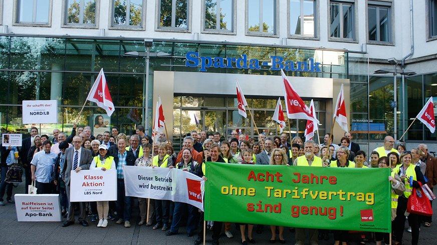 Warnstreiks bei der Sparda-Bank Hannover am 18.09.2014