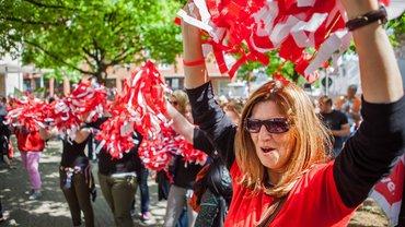 In Hannover haben 1.000 Erzieherinnen und Eltern an der Kundgebung teilgenommen