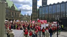 Über 4.000 Teilnehmer auf der Kundgebung in Bremen