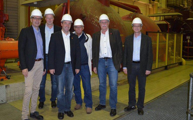Bundestagsabgeordnete Johann Saathoff zu Gast im Druckluftspeicherkraftwerk Huntorf