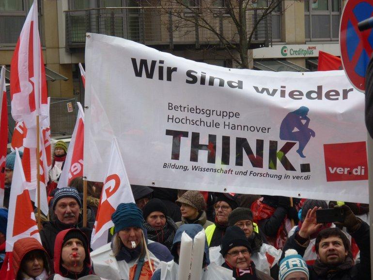 Landesweiter Warnstreiktag am 9. Februar 2017 in Hannover