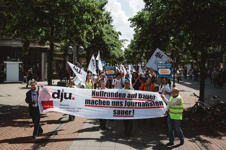 Demo gegen Lohndumping