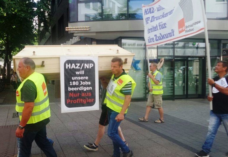 Madsack-Demo am 18.07.2015 in Hannover