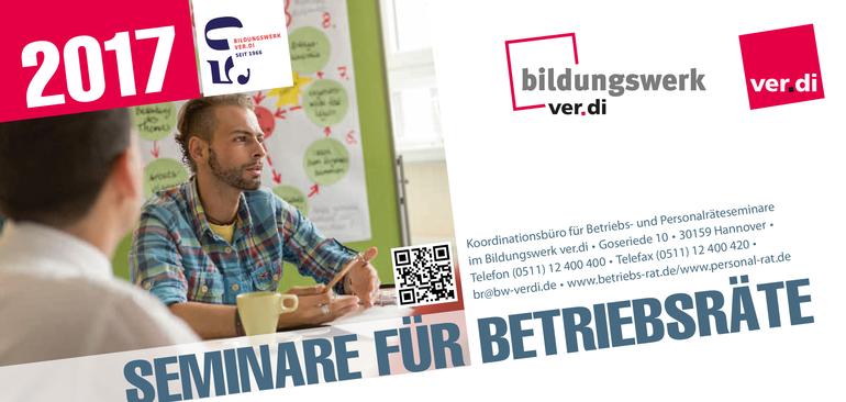 Seminare für Betriebsräte 2017 des ver.di Bildungswerk Niedersachsen