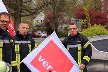 Kundgebung bei der Zweckverbandsversammlung des Zweckverbandes Gemeinsame Leitstelle Friesland-Wilhelmshaven (Jever, 24.4.17)