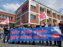 Gegen die Schließung der HOMANN-Werke!Solidaritätskundgebung am 30.04.2017 in Dissen