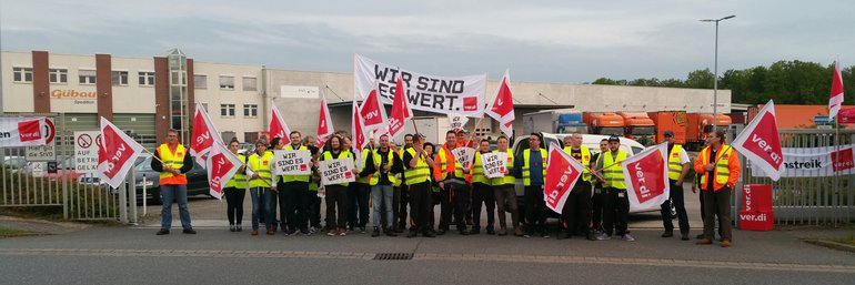 Streik bei der Gübau Logistics GmbH in Wolfsburg