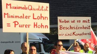 Streikende des DRK Rettungsdienstes Radeberg-Pulsnitz Dresden