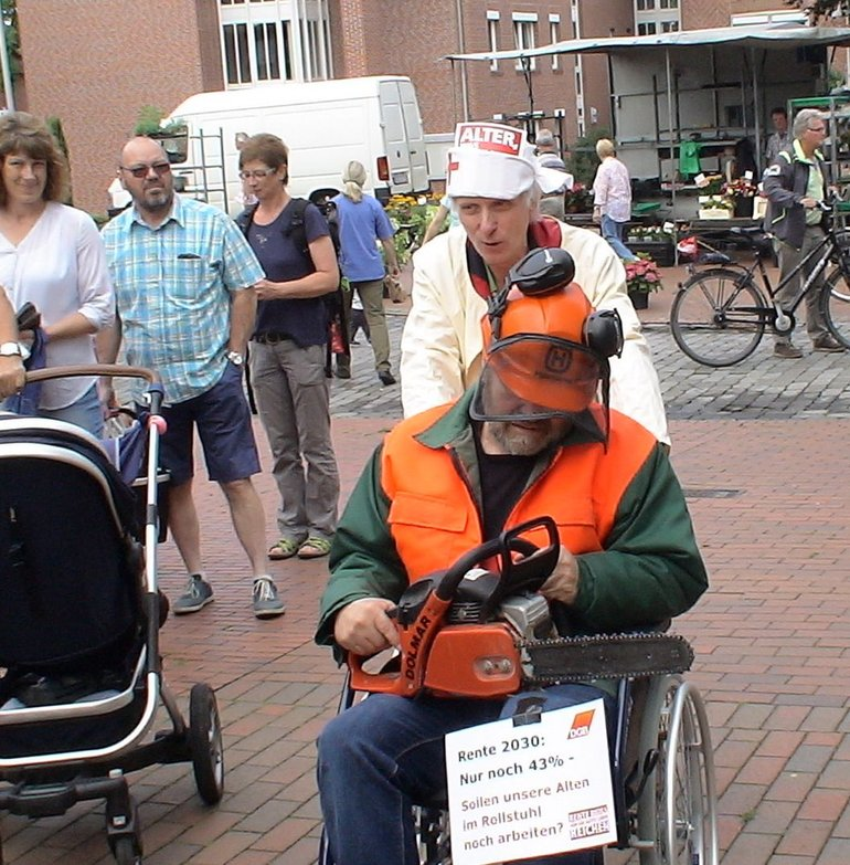Rentenaktion in Niedersachsen