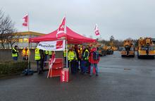 Streik der Kolleginnen und Kollegen von Fricke Schmidtbauer Schwerlast GmbH in Braunschweig am 21.11.2017