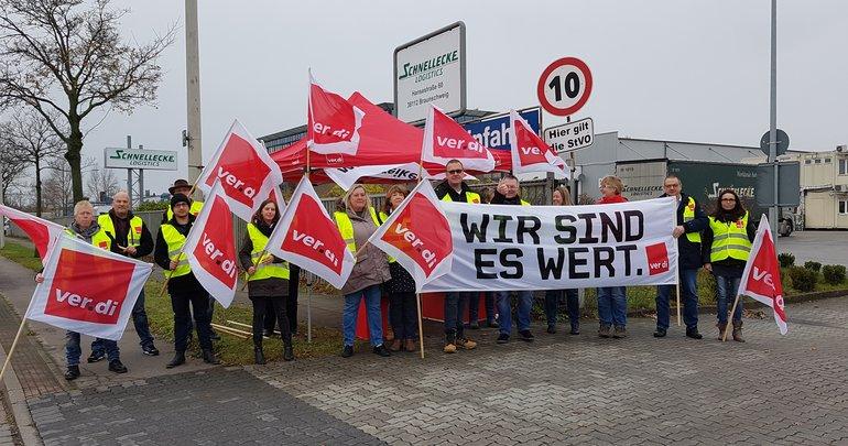 Weiterer Streik in der Tarifrunde Speditions-, Logistik und Kuriergewerbe