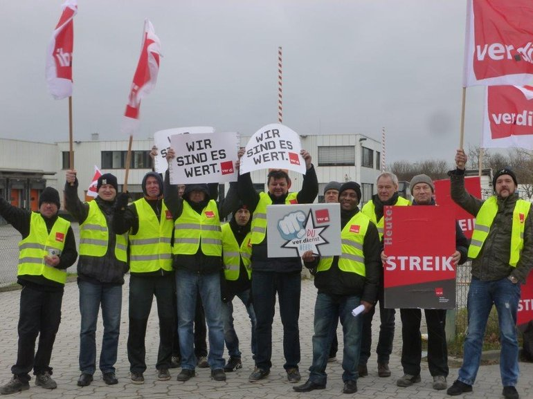 Streik bei Trans-o-flex in Sehnde am 08.12.2017