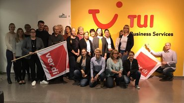 Gruppenbild Lohnrunde 2017 TUI Business Services