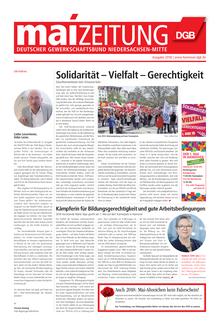 Maizeitung 2018 des DGB Niedersachsen-Mitte
