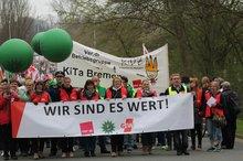 ÖD-Warnstreik in Bremen am 12.04.