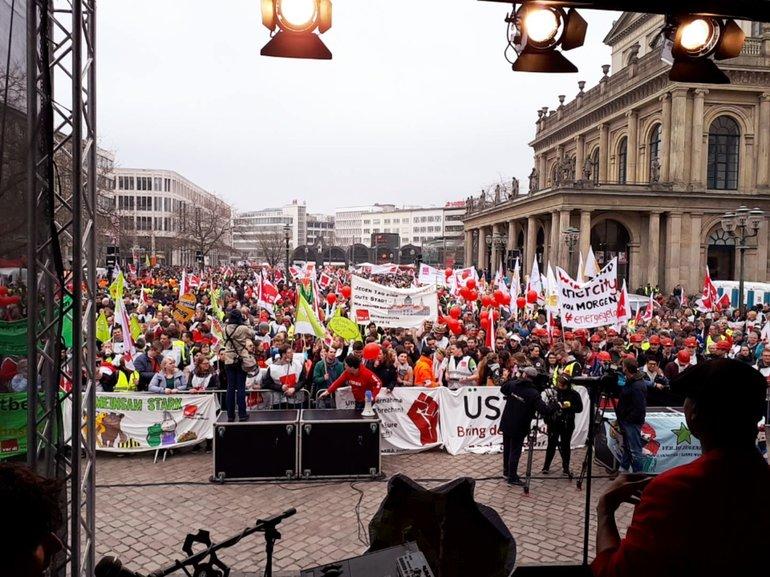 Streik-Demo 12. April 2018