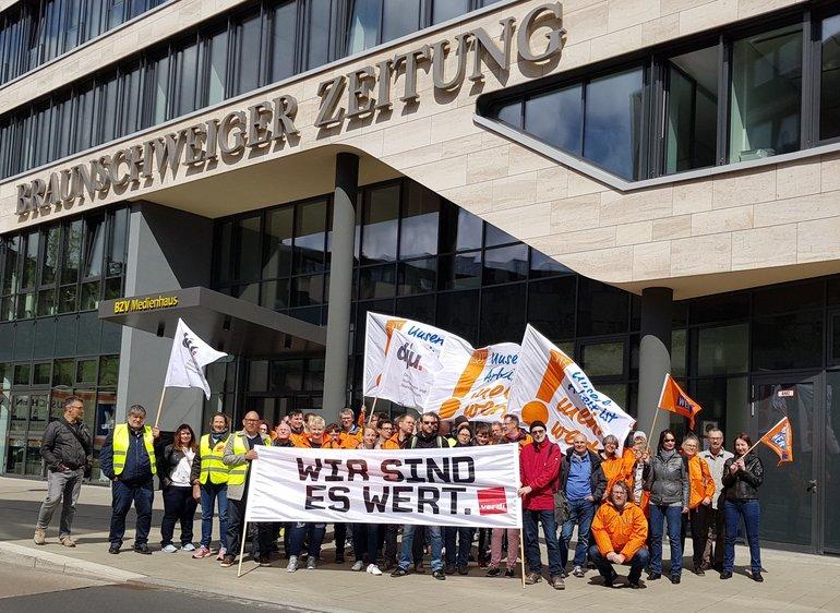 Streik der Redakteure in Braunschweig am 15.04.2018