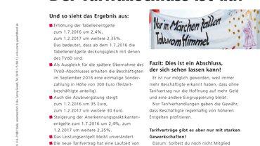 Tarifinfo (Juli 2016): Werkhof & Wohnstätten Lebenshilfe Cuxhaven