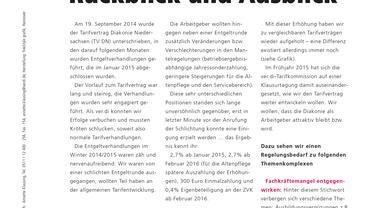 Tarifvertrag Diakonie Niedersachsen