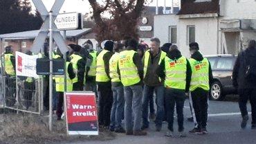 Warnstreik bei Klingele am 18.02.2019