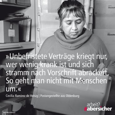 Kampagne: arbeit? #abersicher