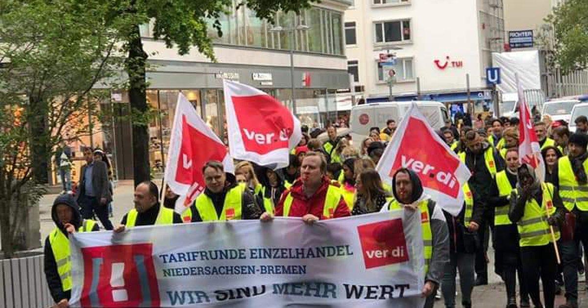 Streikauftakt Im Einzelhandel Niedersachsen