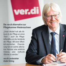 """ver.di-Landesleiter Detlef Ahting zur """"Vereinigung der Pflegenden"""""""