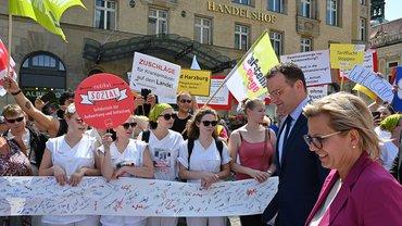 Protest bei Gesundheitsministerkonferenz in Leipzig, 5. Juni 2019