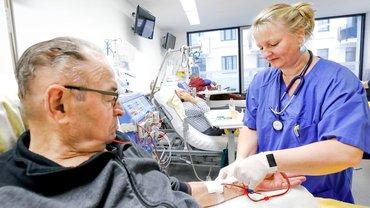Gesundheit Soziale Dienste Wohlfahrt und Kirchen, drei.69, Dialysezentrum, Reportage, Pflege,