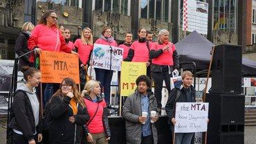 Kundgebung am 25.09.2019: Bremer Pflegeschüler und Pflegekräfte werden aktiv