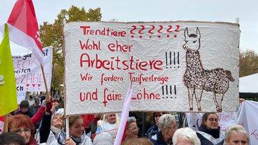 Über 500 Beschäftigte in vier Ameos-Kliniken in Sachsen-Anhalt legen ganztägig die Arbeit nieder.