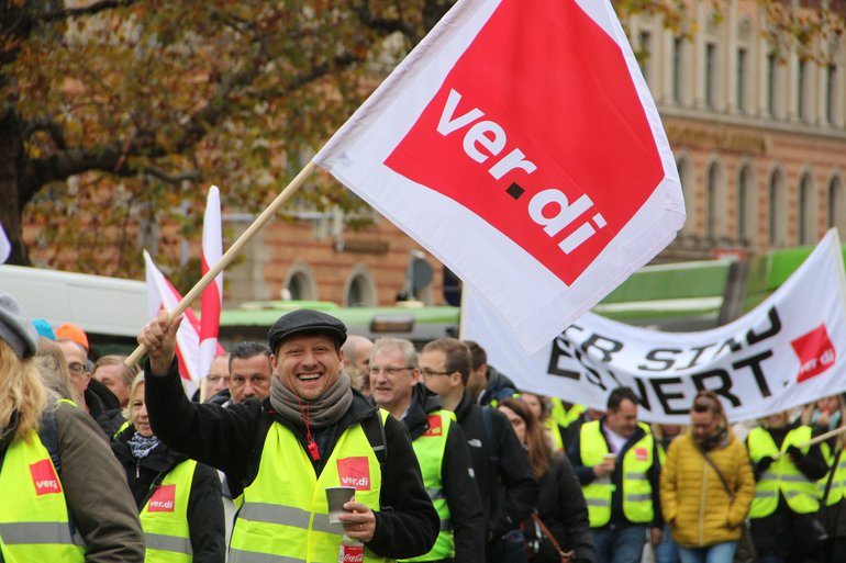 Tarifrunde Sparda Bank 2019: Warnstreik am 05.11.2019 in Hannover