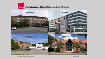 Gebäude der Standorte der BeG Niedersachsen / Bremen