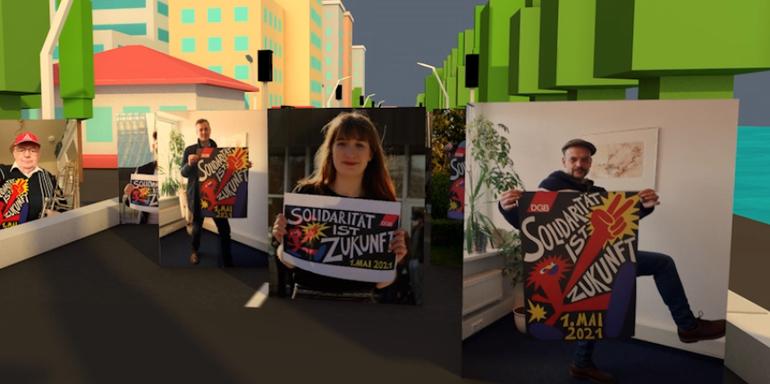 Solidarität ist Zukunft: Virtueller Demozug