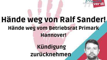 Hände weg von Ralf Sander!